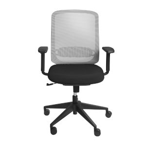 Loring Gray and Black Low Back Office Chair