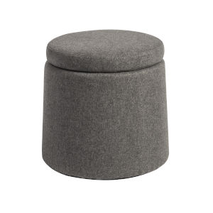 Milo Light Gray Storage Stool