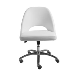 Nicollet White Low Back Office Chair
