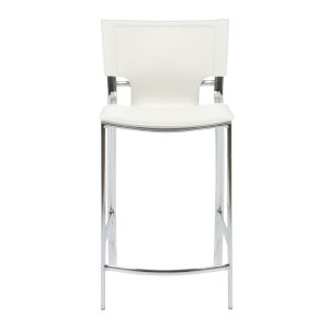 Vinnie White 17-Inch Counter Stool, Set of 2