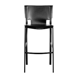 Vinnie Black 17-Inch Counter Stool, Set of 2