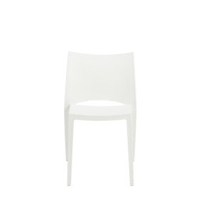 Leslie White Stacking Side Chair, Set of Four