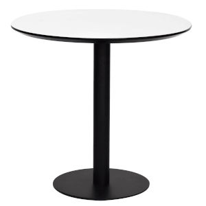 Paras White and Black 32-Inch Round Dining Table