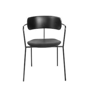 Paris Black 21-Inch Arm Chair, Set of 4