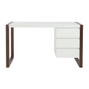 Manon White 51-Inch Three Drawers Desk