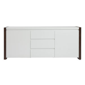 Manon White and Walnut 67-Inch Sideboard