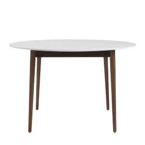 Manon White 47-Inch Round Dining Table