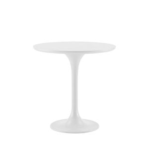 Astrid White Lacquer 20-Inch Round Side Table