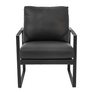Bettina Black 25-Inch Lounge Chair