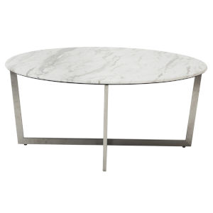 Llona White 36-Inch Round Coffee Table