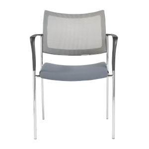 Vahn Gray 23-Inch Visitor Chair, Set of 2