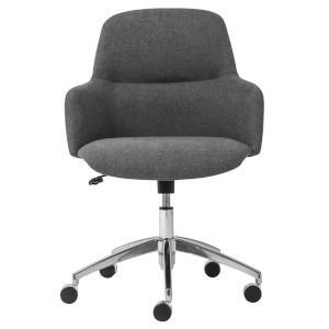 Minna Dark Gray 26-Inch Low Back Office Chair