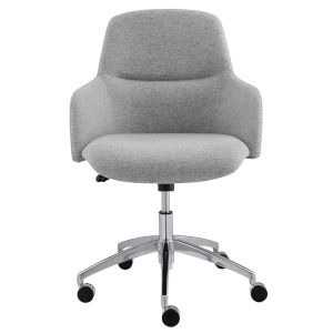 Minna Gray 26-Inch Low Back Office Chair