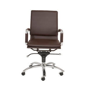 Gunar Brown Leatherette Pro Low Back Office Chair