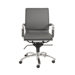 Gunar Gray Leatherette Pro Low Back Office Chair