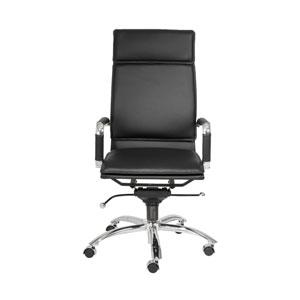 Gunar Black Leatherette Pro High Back Office Chair