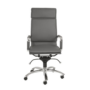 Gunar Gray Leatherette Pro High Back Office Chair
