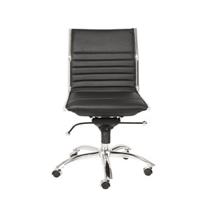 Dirk Black Low Back Office Chair without Arms