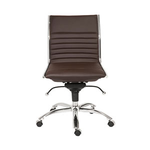 Dirk Brown Low Back Office Chair without Arms