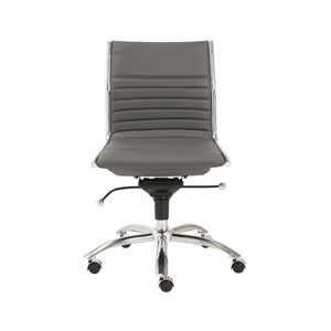 Dirk Gray Low Back Office Chair without Arms
