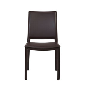 Kate Brown Leatherette Side Chair, Set of Four