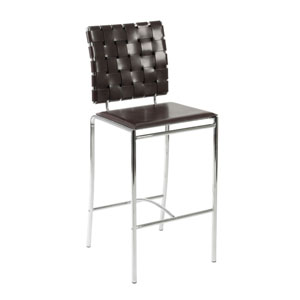 Carina Brown Counter Chair, Set of Two