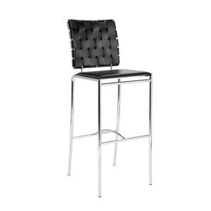 Carina Black Bar Chair, Set of Two