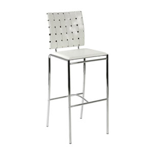 Carina White Bar Chair, Set of Two