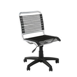 Bungie Black Aluminum Low Back Office Chair