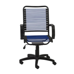 Bradley Blue Bungie Office Chair