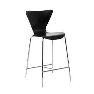 Tendy Black Counter Chair, Set of Two