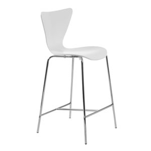 Tendy White Counter Chair, Set of Two