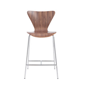 Tendy Walnut Counter Chair, Set of Two