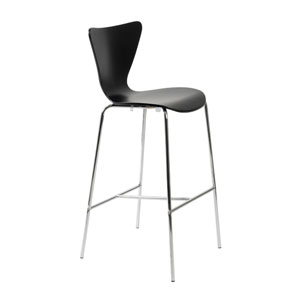 Tendy Black Bar Chair, Set of Two