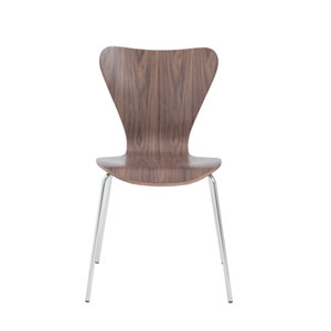 Tendy Walnut Side Chair, Set of Four