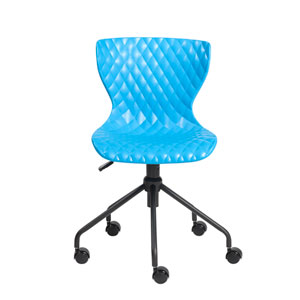 Daly Office Chair in Blue with Black Base