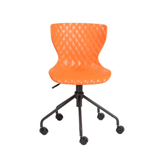 Daly Office Chair in Orange with Black Base