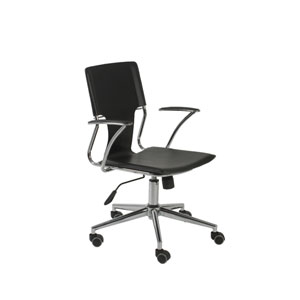 Terry Black Leatherette Office Chair