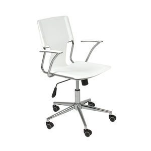 Terry White Leatherette Office Chair