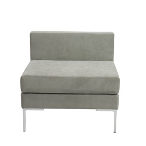 Vittorio Armless Sofa in Gray