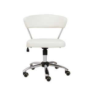 Draco White Office Chair