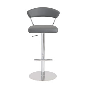 Draco Gray Bar Stool