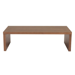 Abby Rectangle Coffee Table in American Walnut