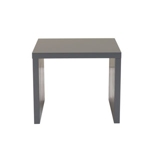 Abby Square Side Table in Matte Gray