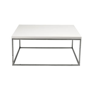 Teresa White Lacquer Square Coffee Table