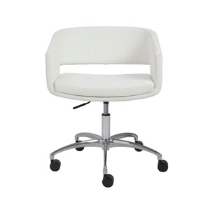 Amelia White Office Chair
