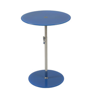 Radinka Blue Printed Glass Side Table