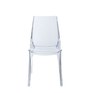 Vanity Stacking Side Chair in Transparent - Set of 4