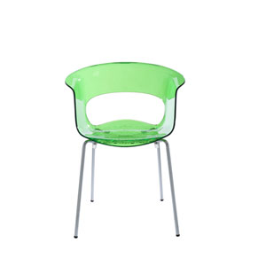 Miss Lime Green Side Chair, Set of 4