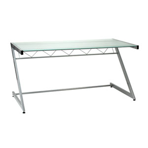 Z Frosted Glass Deluxe Desk-Large